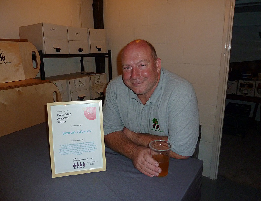 Cider producer Simon Gibson wins top CAMRA award for lockdown excellence