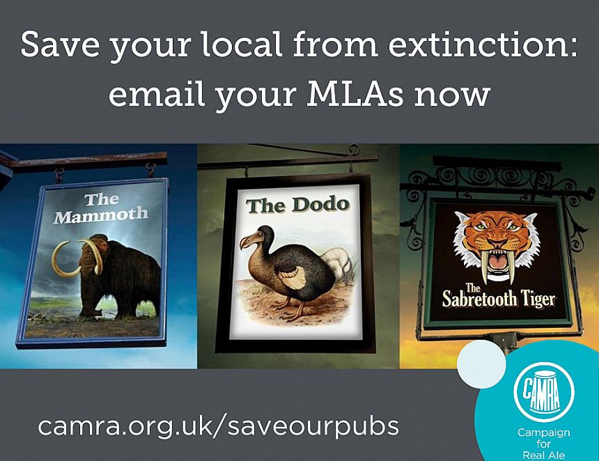 Write to your MP now to save pubs from extinction