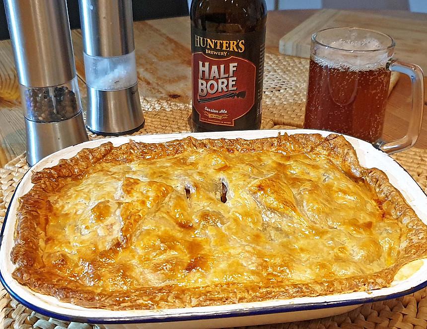 Beer Recipe: Hunter's chicken and chestnut pie