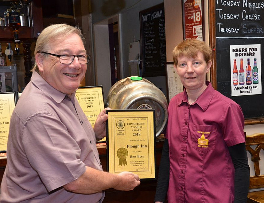 Pub nominated for serving best pint of mild for fourth year in a row