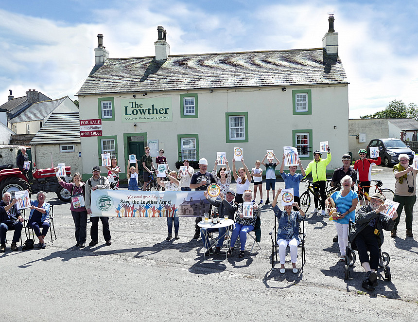 Community reopens village pub